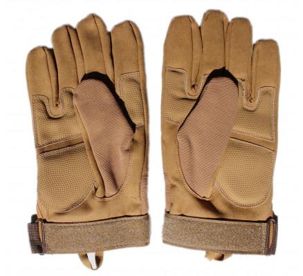Бежевые тактические перчатки