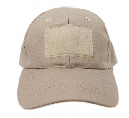 Бежевая кепка без эмблемы