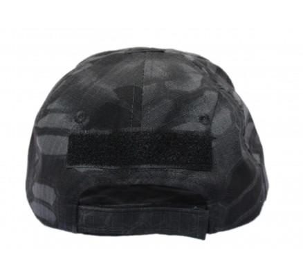 Черная кепка с рисунком без эмблемы