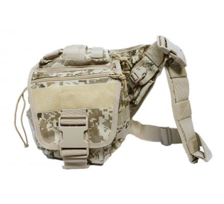 Бежевая сумка с камуфляжным рисунком