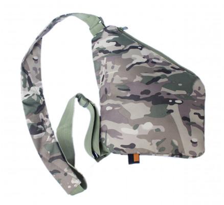 Камуфляжная треугольная сумка через плечо