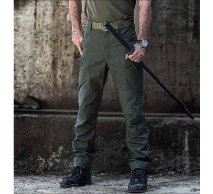Оливковые штаны с карманами Pave Hawk