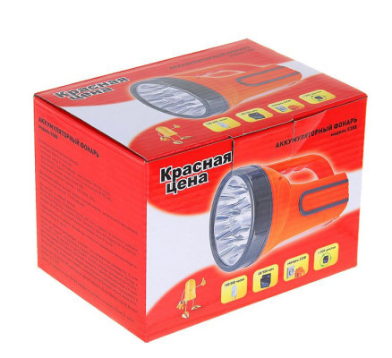 Фонарь аккумуляторный 9 LED