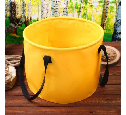 Желтое ведро туристическое 28 л