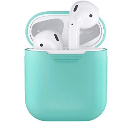 Бирюзовый силиконовый чехол для Apple AirPods