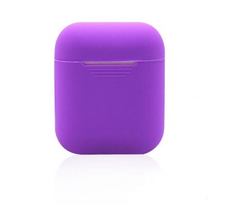 Фиолетовый силиконовый чехол для Apple AirPods