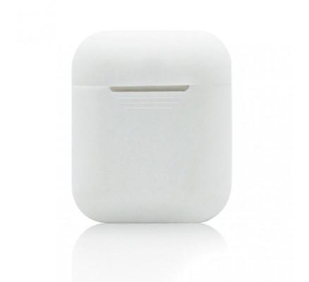 Белый силиконовый чехол для Apple AirPods