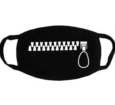 Черная защитная маска с  принтом молнии, 5 шт.