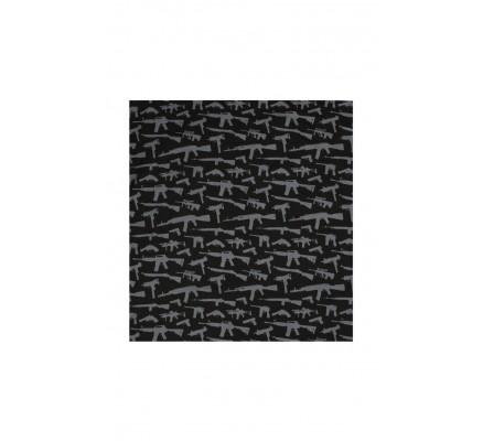 Бандана с рисунком черная 4099