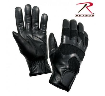 Кожаные черные перчатки 4480