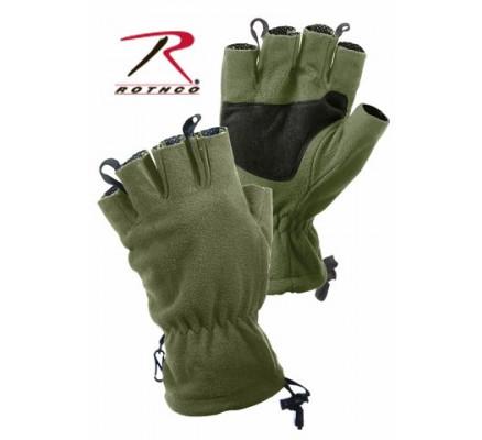 Перчатки без пальцев оливковые 4896