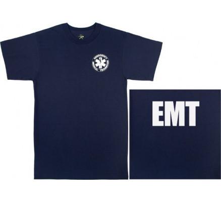 Медицинская футболка EMT синяя 6337