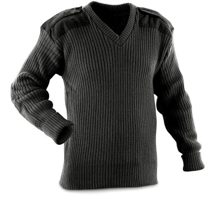 Акриловый черный свитер 6345
