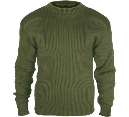 Шерстяной оливковый свитер COMMANDO 6348