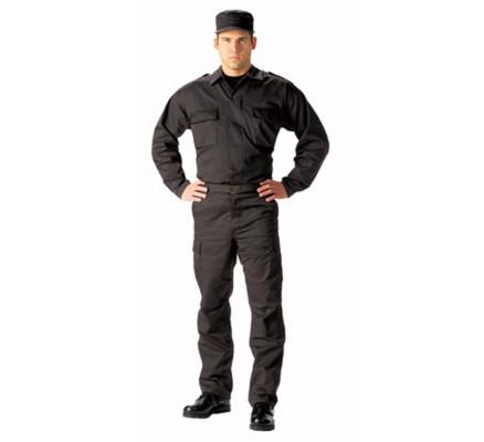 Черная тактическая рубашка B.D.U. 6350