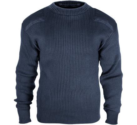 Шерстяной синий свитер COMMANDO 6360