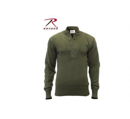 Акриловый оливковый свитер 6368