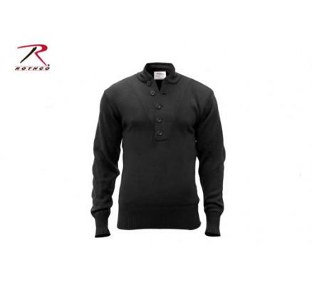Акриловый черный свитер 6368