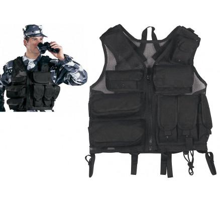 Черный тактический жилет S.W.A.T. 6582