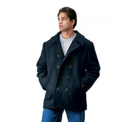 Черное шерстяное пальто 7070
