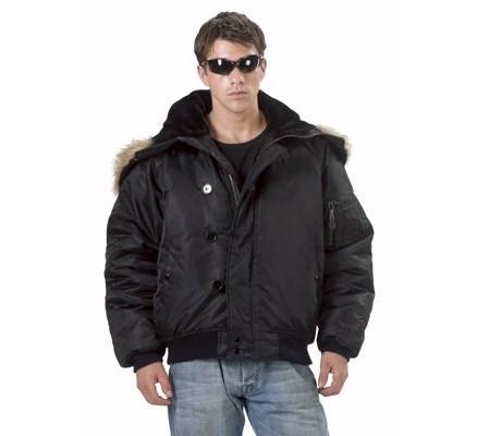 Черная летная куртка 7193
