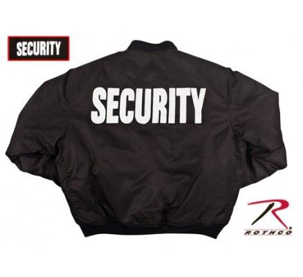 Летная черная курточка SECURITY 7357