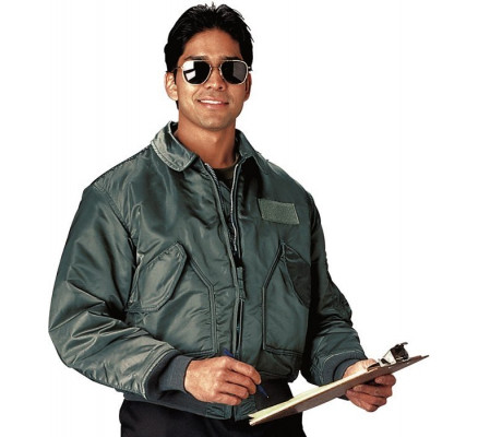 Зеленая летная куртка 7520