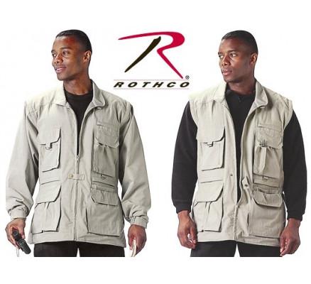 Куртка с отстегивающимися рукавами Хаки 7590