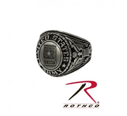 Серебряное армейское кольцо 842