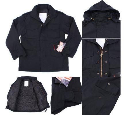 Черная полевая куртка M-65 8444