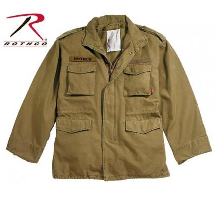Винтажная коричневая курточка М-65 8616