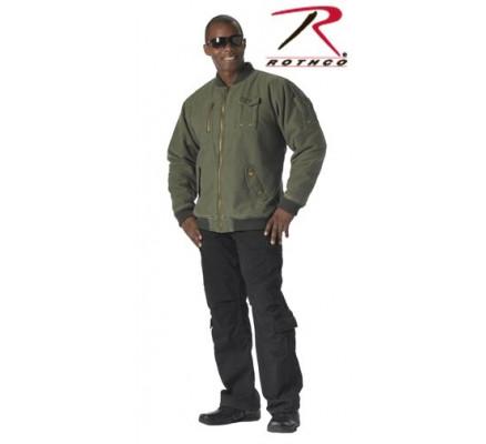 Летная винтажная оливковая куртка 8653