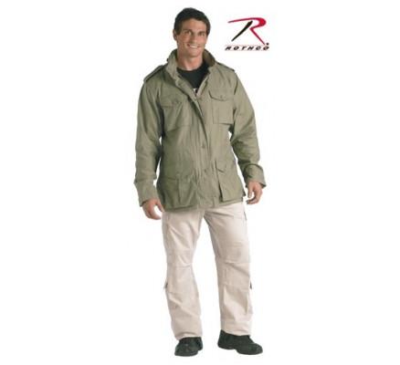 Серо-зеленая винтажная курточка М-65 8731