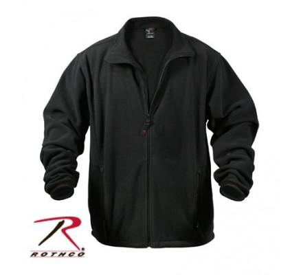 Черная флисовая курточка 8745