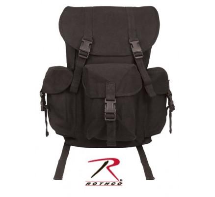 Хлопковый рюкзак черный 9202