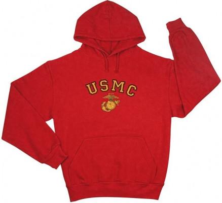 Красная толстовка USMC 9222