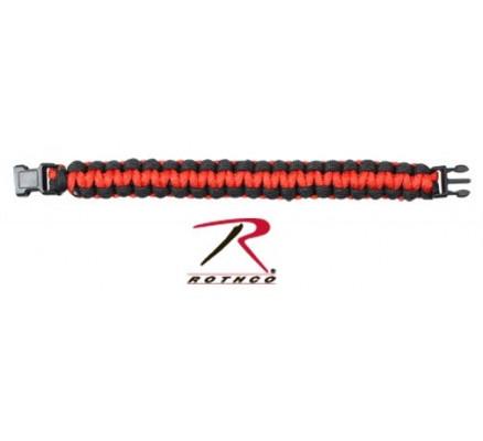 Черно-красный браслет из паракорда 923