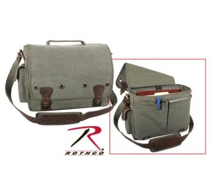 Оливковая сумка для ноутбука 9239
