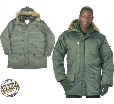 Серо-зеленая куртка N-3B 9387