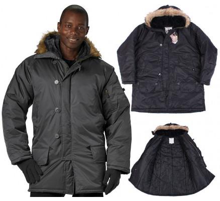 Черная куртка-парка N-3B 9390