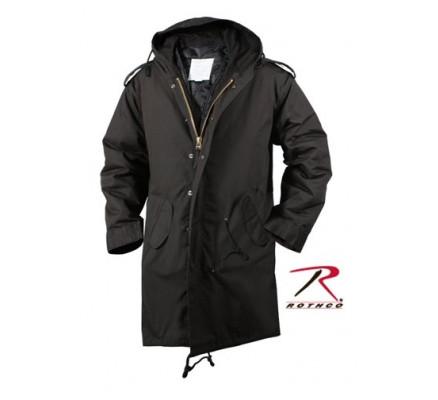 Черная длинная курточка-парка М-51 9464