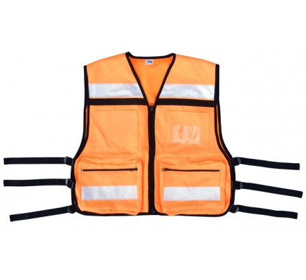 Оранжевый жилет  безопасности E.M.S 9561