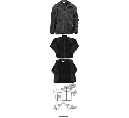 Флисовая черная курточка 9739