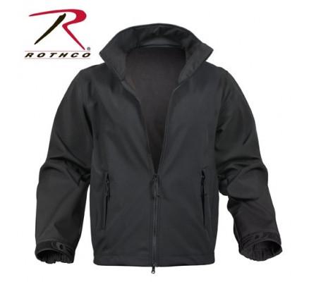 Мягкая черная курточка 9834