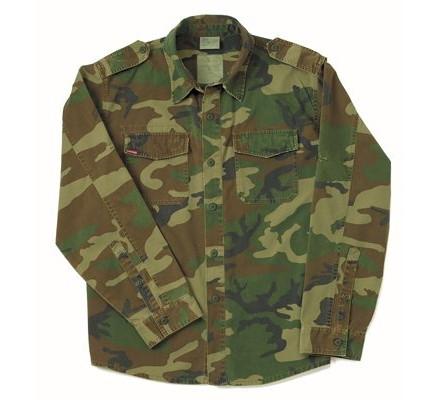 Винтажная рубашка Лесной камуфляж 2566