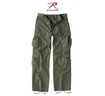 Темно-оливковые винтажные брюки 2786