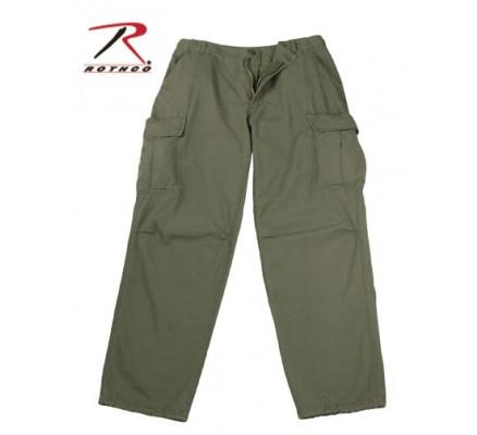 Винтажные оливковые брюки VIETNAM 4387