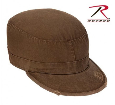 Винтажная коричневая кепка 4521