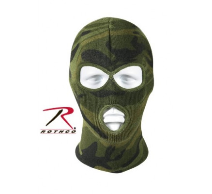 Акриловая маска на всю голову камуфляжная 5596