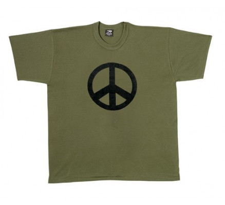 Оливковая футболка со знаком мира 60057
